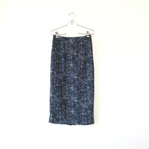 WHO WHAT WEAR midi long pencil skirt black 2 small
